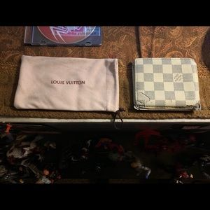 Louis Vuitton wallet distressed customized